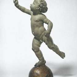 Andrea del Verrocchio, Putto Poised on a Globe, Italian, 1435 - 1488, probably 1480, unbaked clay, National Gallery of Art, Andrew W. Mellon Collection
