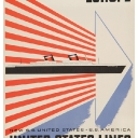 3. Lot 25. Beall, Lester (1903-1969), United States Lines, Europe Lithograph in colors, c. 1950, condition B, backed on linen.