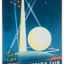 2. Lot 27. Binder, Joseph (1898-1972), New York World's Fair 1939 Lithograph in colors, 1939, printed by Grinnell Litho. Co., NYC, condition B+, backed on linen. 30 ½ x 20 in (78 x 51 cm).