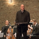 Leon Botstein speaks on Beethoven\'s First Symphony. Photo © 2009 Michael Miller.