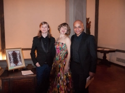 Marcin Lipiński, Roza Tulyaganova, and Omar Sangare. Photo Joanna Gabler.