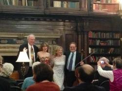 Kenneth Cooper, Roza Tulyaganova, Paula Robison, and Frederick Zlotkin take their bows. Photo Omar Sangare