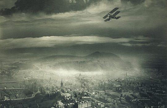 Alfred G Buckham, Aerial view of Edinburgh about 1920, gelatin silver print.