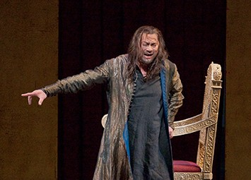 René Pape in the title role in Mussorgsky's Boris Godunov. Photo Ken Howard/Metropolitan Opera