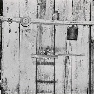 Walker Evans, Kitchen Wall, Alabama Farmstead, 1936