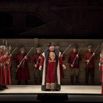 Anatoli Kotscherga as Ivan Khovansky in Mussorgsky's €œKhovananshchina.€ Photo: Ken Howard/Metropolitan Opera.