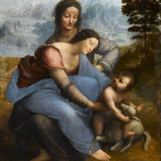Leonardo da Vinci, The Madonna and Child with St. Anne. Musée du Louvre, Paris.