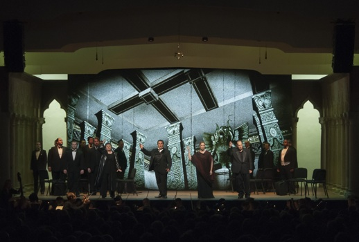 Ciro in Babilonia by Rossini in front of digital projections at Bel Canto at Caramoor