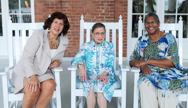 L to R: Glimmerglass Festival Artistic & General Director Francesca Zambello, Justice Ruth Bader Ginsburg and Glimmerglass Festival Managing Director Linda Jackson. Photo: Karli Cadel/The Glimmerglass Festival.