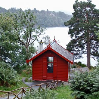 Grieg's Composing Hut at Troldhaugen.
