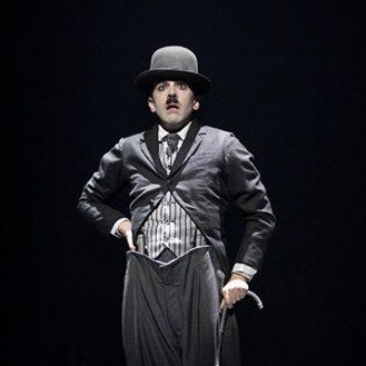 Rob McClure as Charlie Chaplin. Photo © 2012 Joan Marcus.