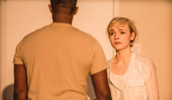 Othello at the National Theatre: Olivia Vinall as Desdemona, Adrian Lester as Othello. Photo Johan Persson.