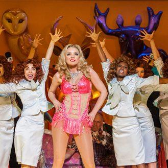 Sarah Joy Miller and Chorus in Anna Nicole. Photo Stephanie Berger.