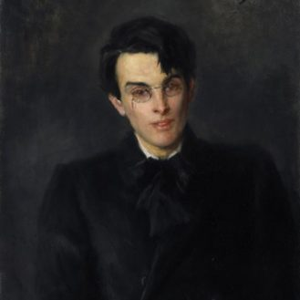 Portrait of William Butler Yeats (1865-1939) by John Butler Yeats (1839-1922). National Gallery of Ireland.