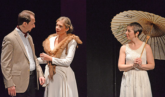 David Kravitz as Frederick, Krista River as Charlotte, Kristen Watson as Anne (Julian Bullitt photo)