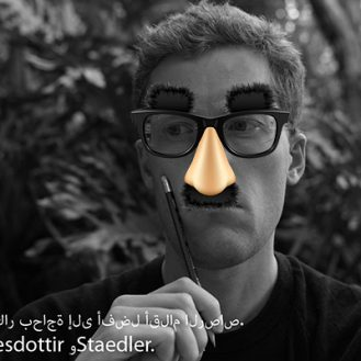 Jefe Angledottir first outed his Groucho concept in a Staedtler pencil ad he made in 2010.