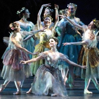 """American Ballet Theatre in """"The Dream."""" Photo Gene Schiavone."""
