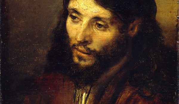 Head of Christ, Rembrandt van Rijn, oil on oak panel, c. 1648-50. Staatliche Museen Preussicher Kulturbesitz, Gemäldegalerie, Berlin.