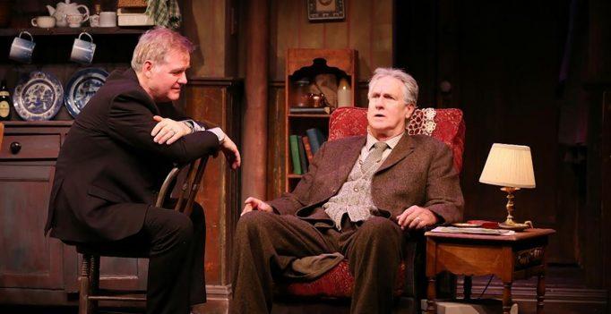 Ciaran O'Reilly as Charlie and Paul O'Brien as Da in the Irish Rep's revival of Hugh Leonard's play.