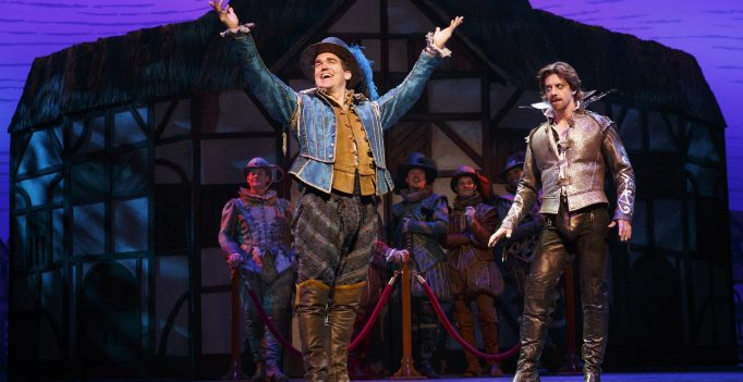 Bryan d'Arcy James and Christian Borie in Something Rotten. Photo © 2015 Joan Marcus.