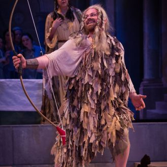 "Colin Balzer as Ulisse in BEMF's production of Monteverdi's ""Il ritorno di Ulisse in patria."" Photo Frank Siteman."