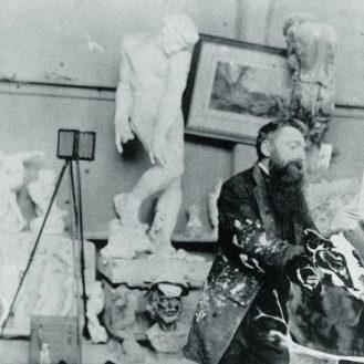 Rodin in his studio