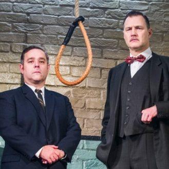 Andy Nyman and David Morrissey in Hangmen at Wyndhams Theatre. Photo Tristram Kenton.