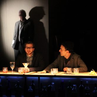 James Himelsbach, Edward Bauer and Ben Beckley in I Will Look Forward to this Later. Photo © Nick Benacerraf.