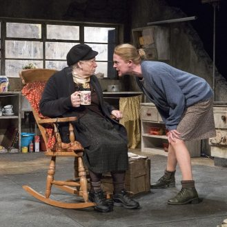 Marie Mullen and Ailsing O'Sullivan in the Beauty Queen of Leenane by Druid at BAM.