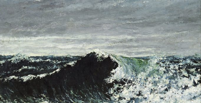 Gustave Courbet, The_Wave, oil on canvas, National Gallery of Scotland