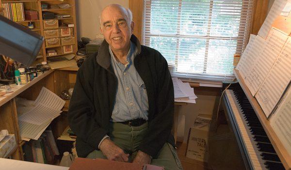 Yehudi Wyner in his Workspace. Photo Michael Miller 2010