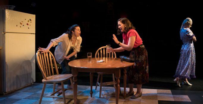 Lauren LaRocca (Gloria) and Peregrine Heard (Mary) in Sheila.