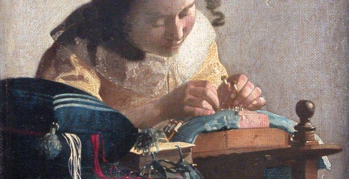 Johannes Vermeer, The Lacemaker, Oil on canvas, 1670-1671. Musée du Louvre.