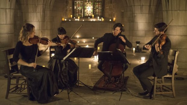 The Attacca Quartet in the Crypt. Photo Tristan Cook.