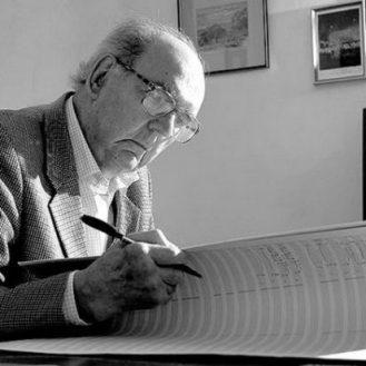 Composer John Joubert. Photo Graham Boulton.