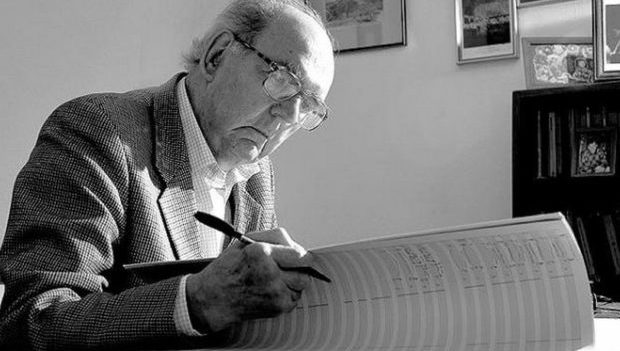 Composer John Joubert. Photo Graham Boulton.