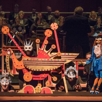 "Hans Christian Andersen's ""The Nightingale"" performed by the Mock turtle Marionette Theatre"