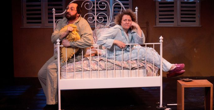 The Popoches in Bed, in hannock Levin's The Labor of Life by the Yiddish Rep