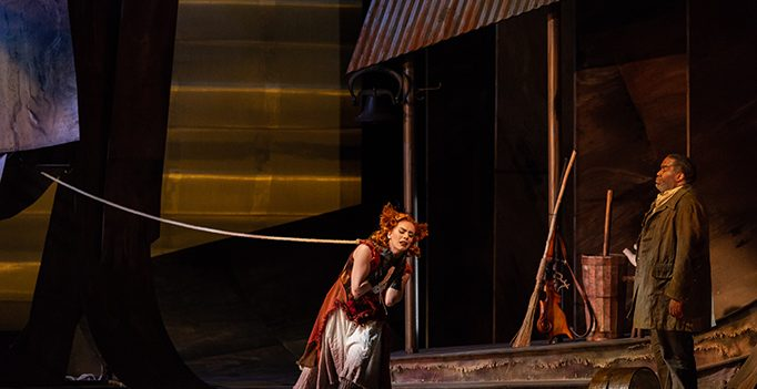 A Scene from Janáček's Cunning Little Vixen at Glimmerglass. Photo Karli Cadel.