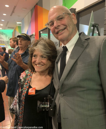 Nathan Benn at the Opening of A Peculiar Paradise at the HistoryMiami Museum, November 8, 2018. The lady on his arm is Merri Mann, his 8th grade English teacher at North Miami Jr. High.