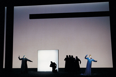 A Scene from Robert Wilson's Production of Lohengrin at the Metropolitan Opera.