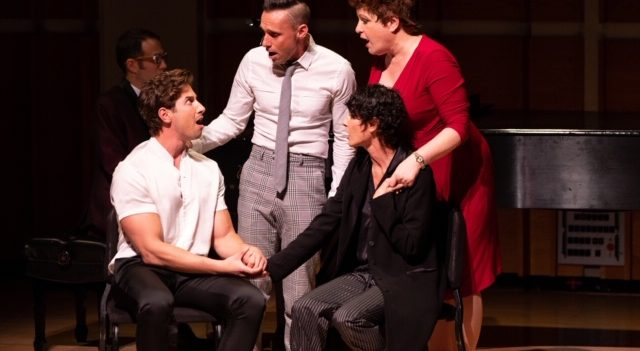 A Moment from Love Who You Love at Broadway Close Up. Photo David Andrako.