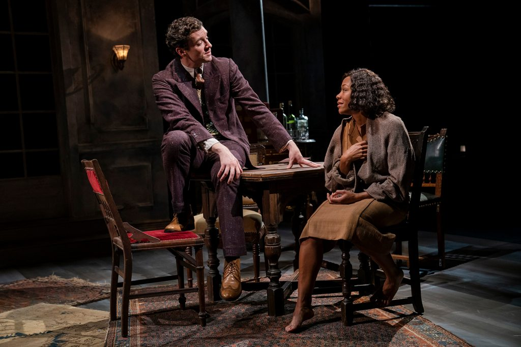 Michael Urie and Nikki M. James in A Bright Room Called Day, written by Tony Kushner and directed by Oskar Eustis, running at The Public Theater. Photo Joan Marcus.