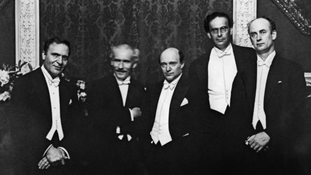 Bruno Walter, Arturo Toscanini, Erich Kleiber, Otto Klemperer, and Wilhelm Furtwängler
