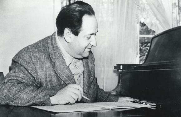 Korngold Composing