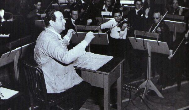 Korngold Conducting at Warner Brothers.