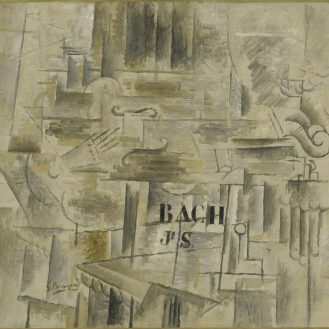 Georges Braque, Homage to J. S. Bach, winter 1911-12, oil on canvas. Museum of Modern Art.