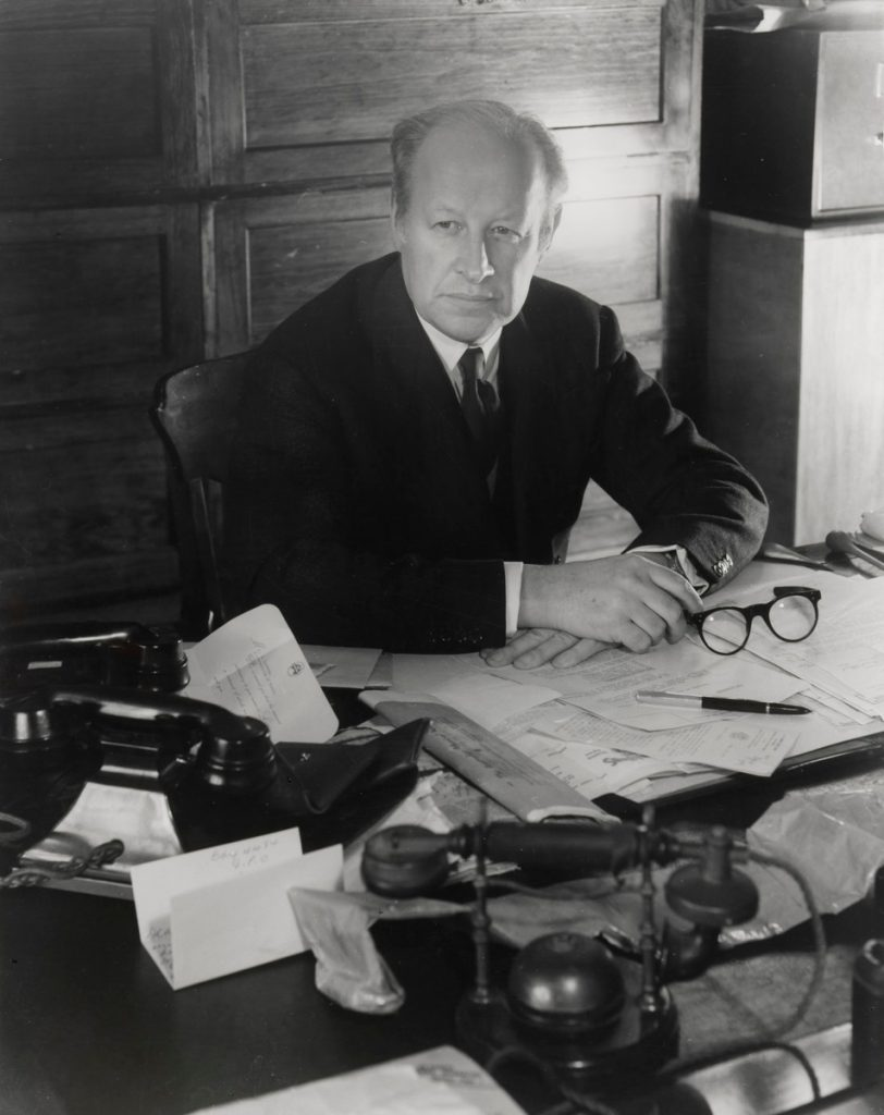 Sir Eugene Goossens in 1954. Photo Max Dupain.