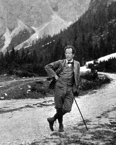 Gustav Mahler at Toblach, 1908