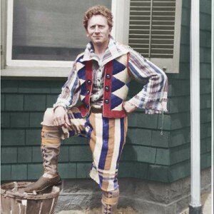 Percy Granger in an Outfit he Designed and Made from Towels.